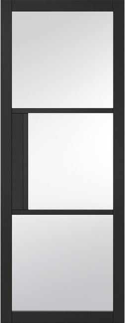 Tribeca Black Internal door, Tinted Glass