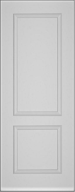Shaker White Primed Fire Door With Clear Glass