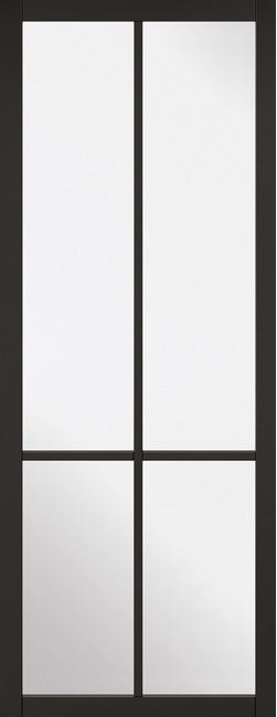 4 Panel Textured White Moulded Clear Glass