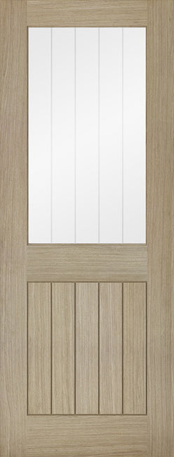 Belize Light Grey Internal Door- Clear Glass with Frosted Lines