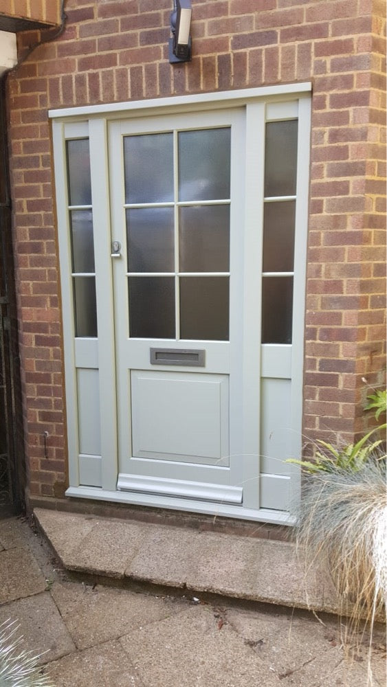 Bespoke Exterior Timber glazed door and Sidelights