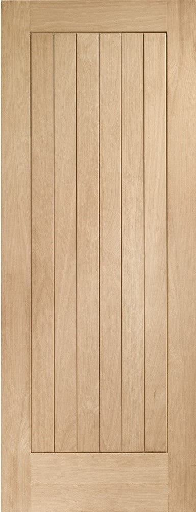 Vancouver Oak Prefinished 4 Light Offset Clear Glass Fire door