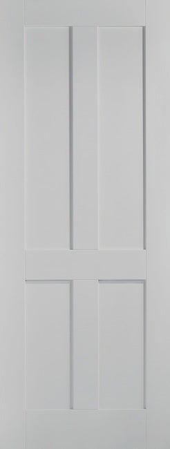 Victorian 4 panel Shaker internal door. White Primed