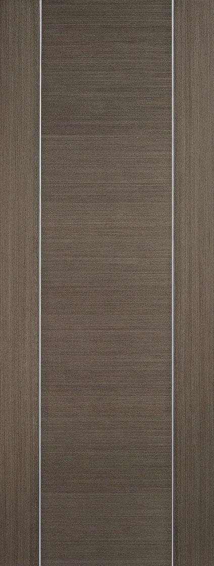 Chocolate Grey Inlay 1 Panel Prefinished Fire Door