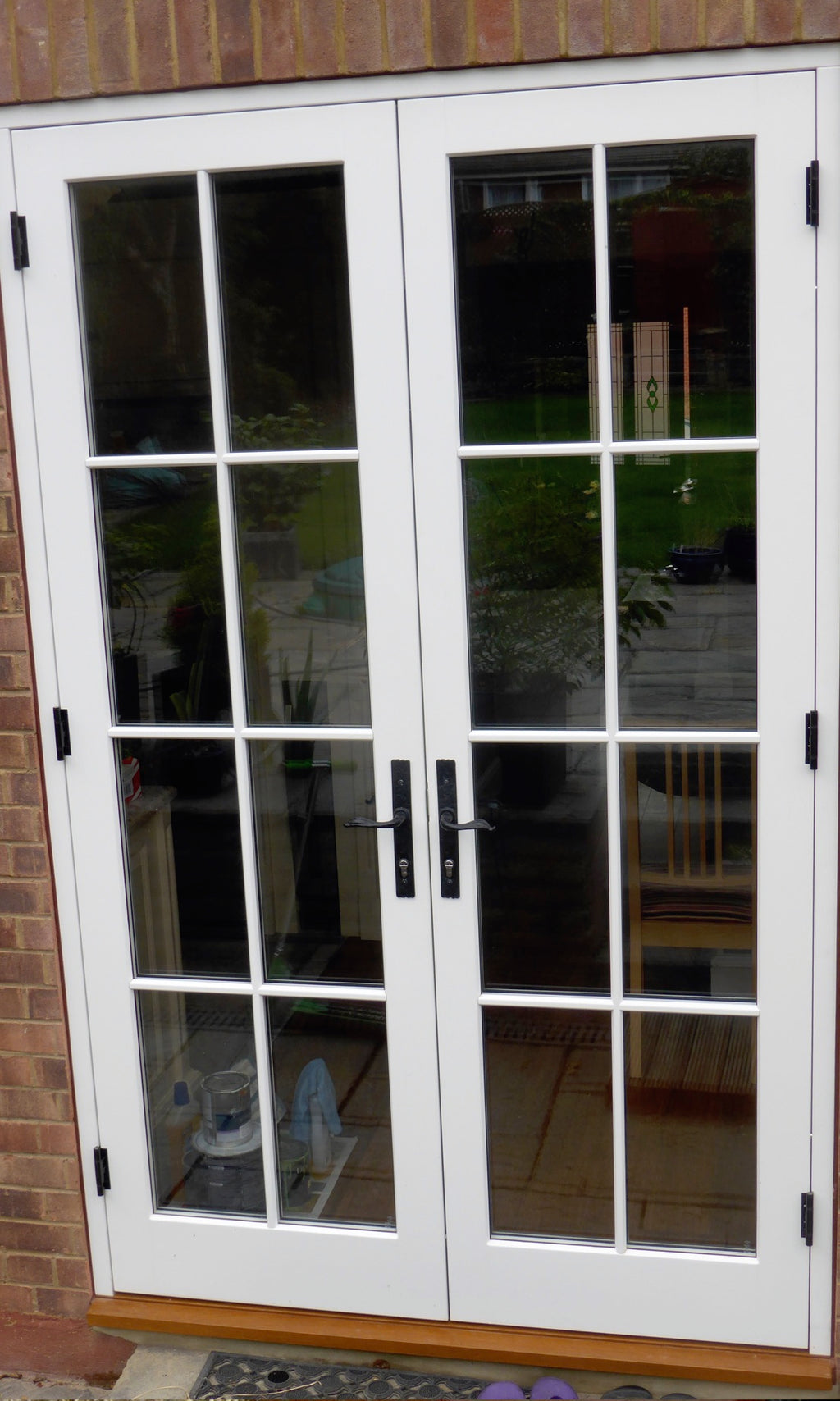 French doors, 8 light, bespoke