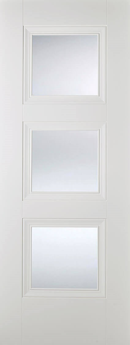 Salerno White Primed With Clear Glass