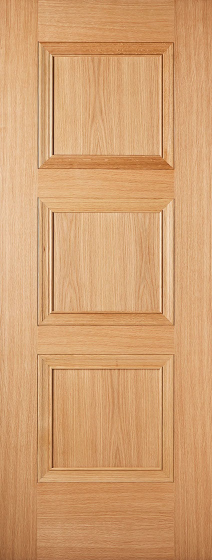 Amsterdam 3 Panel Oak Prefinished Fire Door