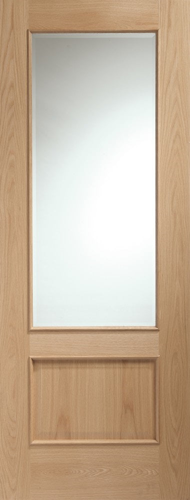 Amsterdam 3 Light Oak Prefinished Clear Glass