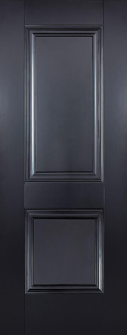 Arnhem 2 panel black primed internal door.