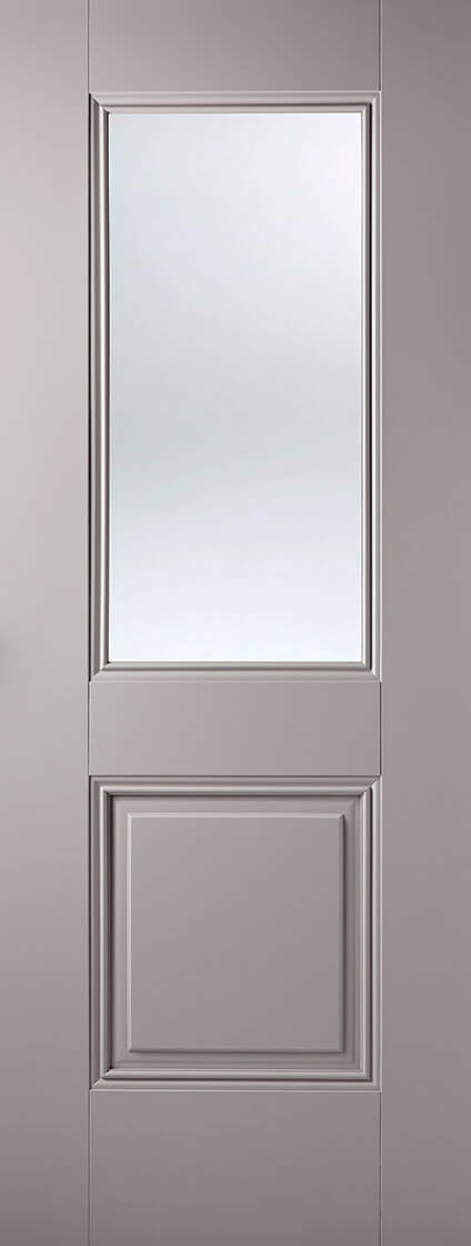 Palermo Dark Grey Prefinished Clear Glass