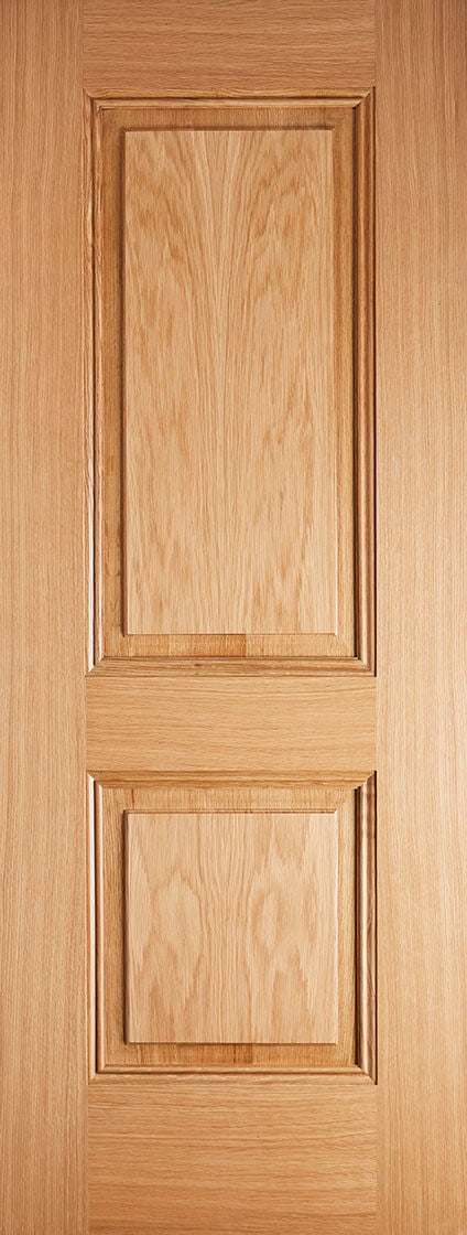 Arnhem 2 panel oak fire door