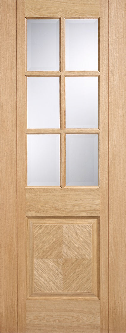 Ravenna Pre Finished Oak With Clear Glass