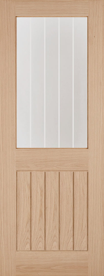 Belize internal oak half glazed door