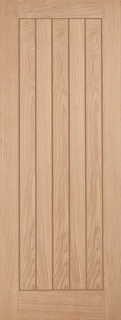 Belize oak door grooved panels