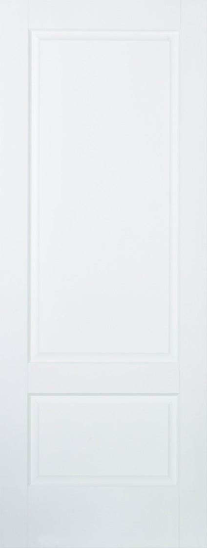 Brooklyn 2 panel white primed door.