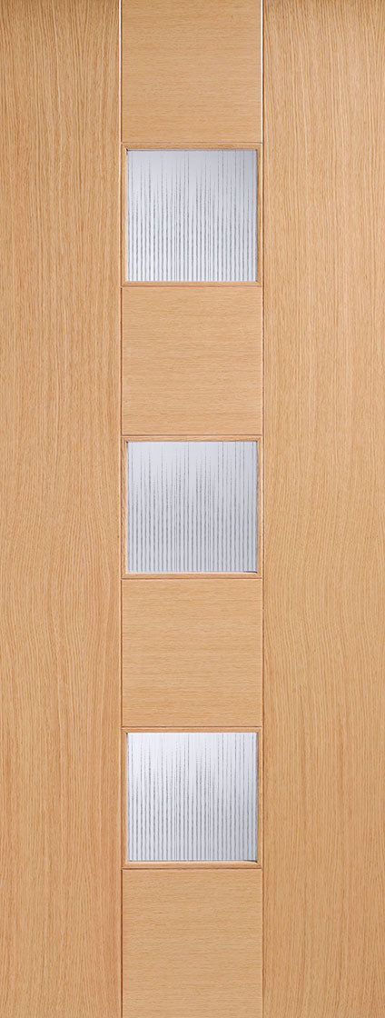 Catalonia  internal oak door preglazed