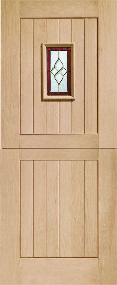 Chancery oak triple glazed External stable door. Brass camings.