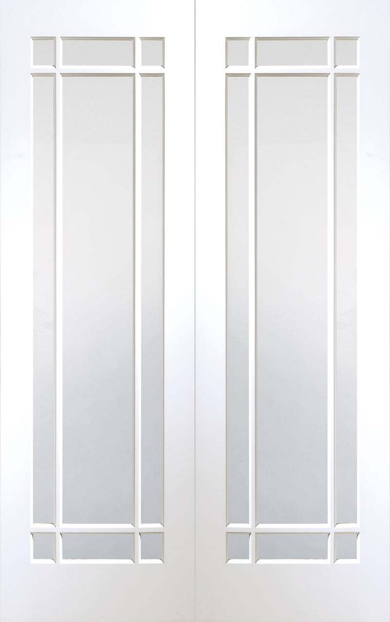 Cheshire white primed internal pair, with clear glass