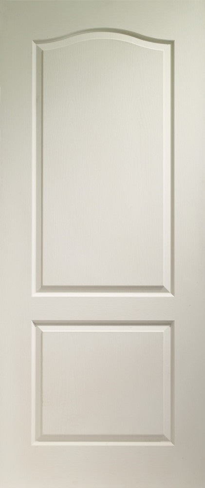 Classique grained white internal moulded door.