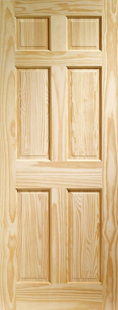 6 Panel Colonial clear pine internal door.
