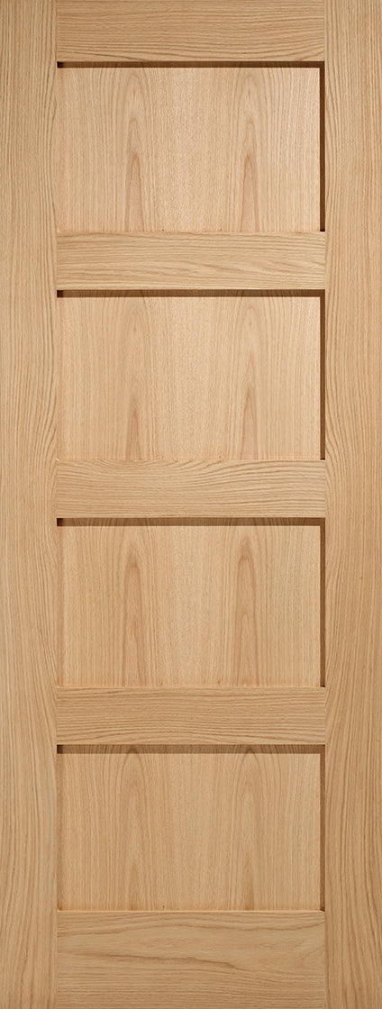 Shaker 4 panel prefinished fire door