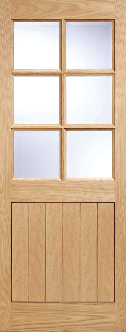 Cottage 6 Light External Oak Clear Double Glazed