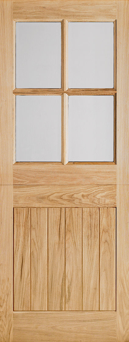 Cottage oak stable door  4 light, clear glass, double glazed