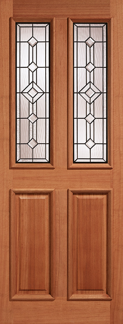 GRP Sidelight White Leaded Double Glazed