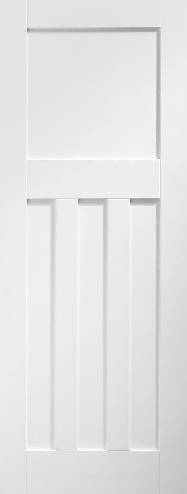 DX 1930 white primed Panelled fire door.