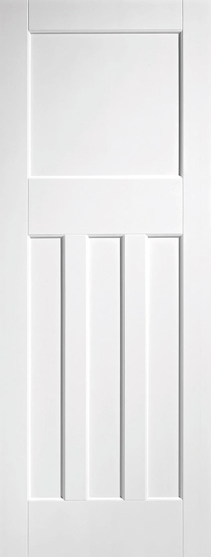DX 1930 Panelled internal door, white primed.