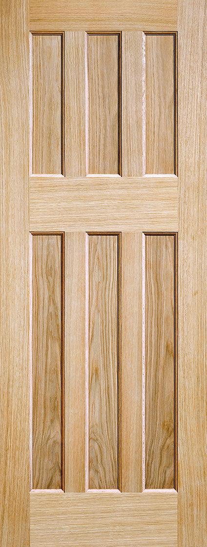 DX 60 Oak Unfinished Door