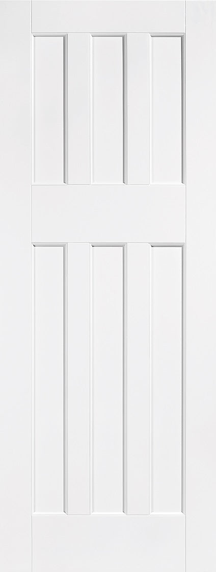 Classical 2 Panel White Moulded Fire Door