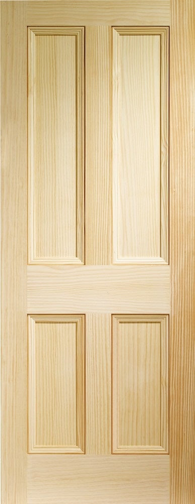 Edwardian 4 panel clear pine internal door.