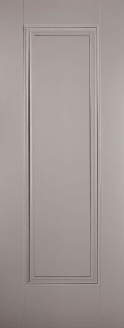 Vancouver Prefinished Pearl Grey internal Door, Clear Glass