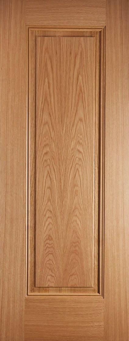 Eindhoven 1 Panel prefinished oak fire door