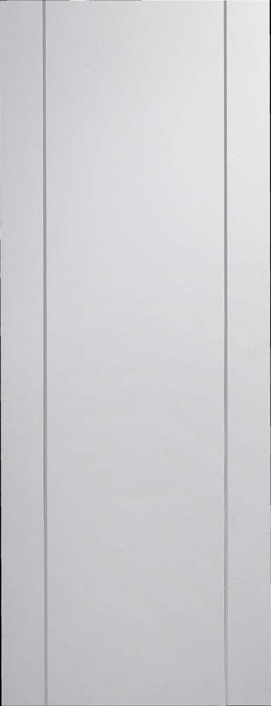 Forli prefinihed white Internal Door with aluminium inlays.