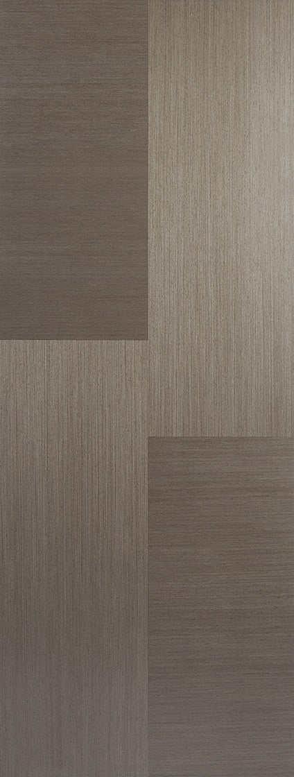 Vancouver Chocolate Grey Prefinished Fire Door