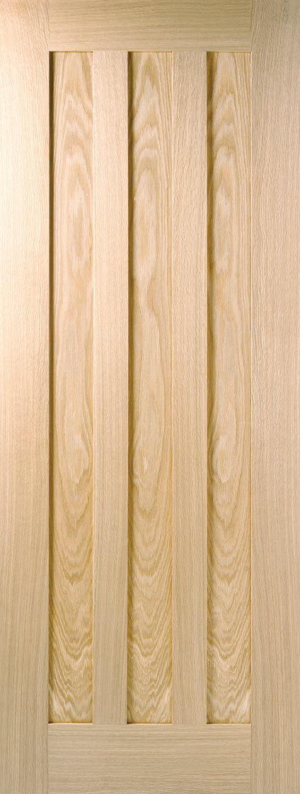 Idaho 3 Panel Oak Unfinished internal  Door
