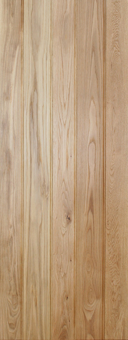 Ledged solid oak internal door.