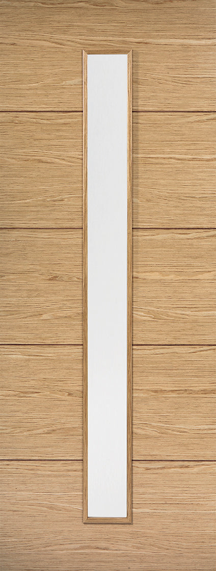 Vancouver Oak internal Door Prefinished 4 Light Clear Glass