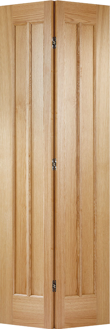 Shaker room divider, Clear Glass 4 Leaf Oak Prefinished