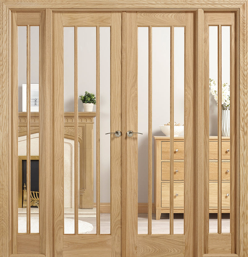 Lincoln Oak W6 room divider clear glass