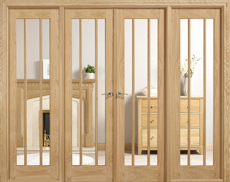 Lincoln Oak W8 room divider clear glass