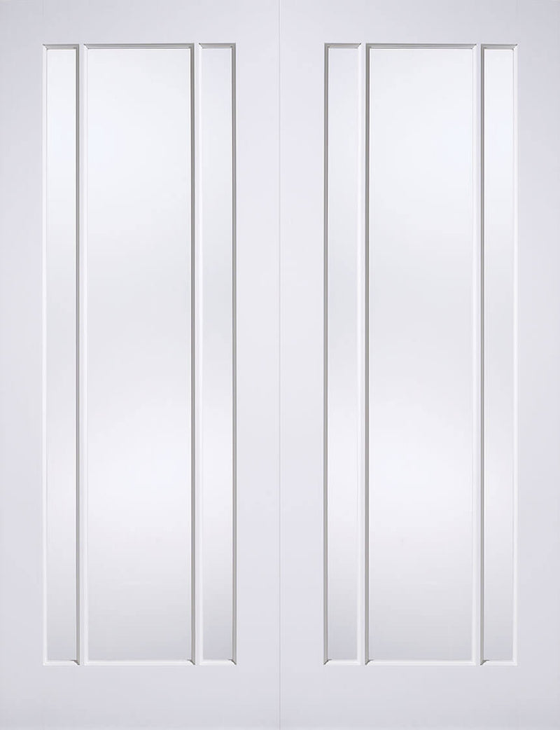 Pattern 10 Primed White Clear Glass L
