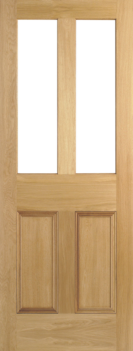 Malton oak door, flat panels, unglazed