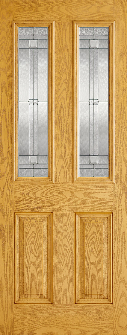 Malton oak External Composite double glazed door