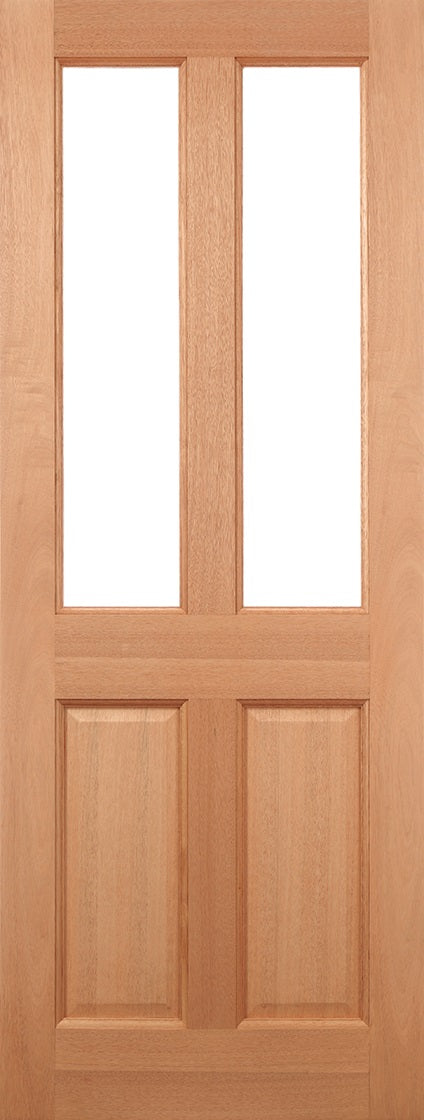 Malton External Hardwood Door Frosted Double Glazed