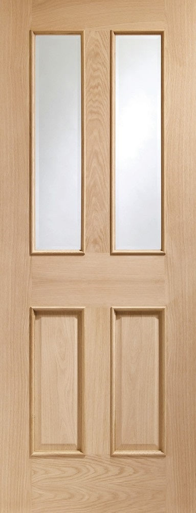 Malton preglazed internal oak door  with raised mouldings.