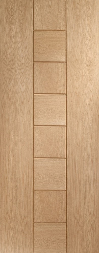 Messina internal oak door, unfinished.