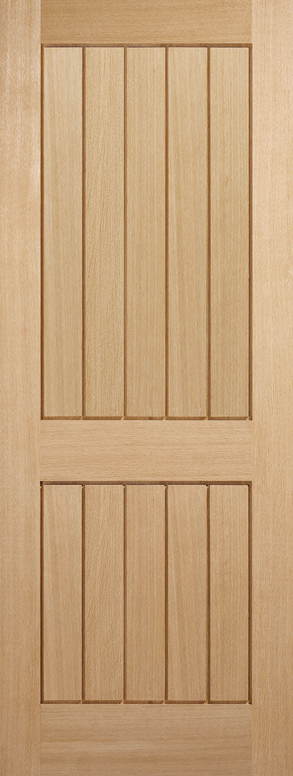 Mexicano 2 Panel Oak Unfinished Fire Door